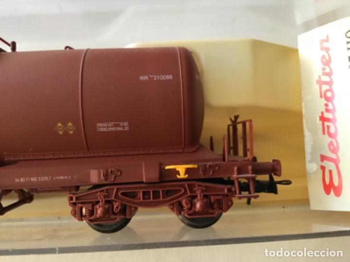 """Trenes Escala: Electrotren H0. Vagón cisterna """"Renfe RR"""" de vitrina - Foto 2 - 210518443"""
