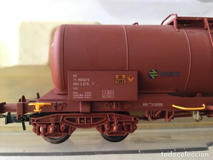 """Trenes Escala: Electrotren H0. Vagón cisterna """"Renfe RR"""" de vitrina - Foto 3 - 210518443"""
