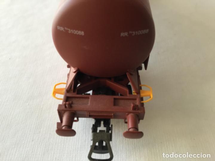 """Trenes Escala: Electrotren H0. Vagón cisterna """"Renfe RR"""" de vitrina - Foto 4 - 210518443"""