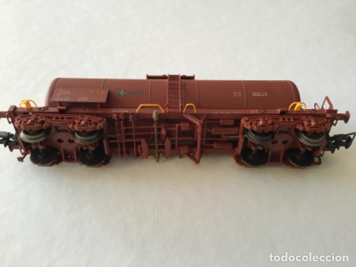 """Trenes Escala: Electrotren H0. Vagón cisterna """"Renfe RR"""" de vitrina - Foto 5 - 210518443"""