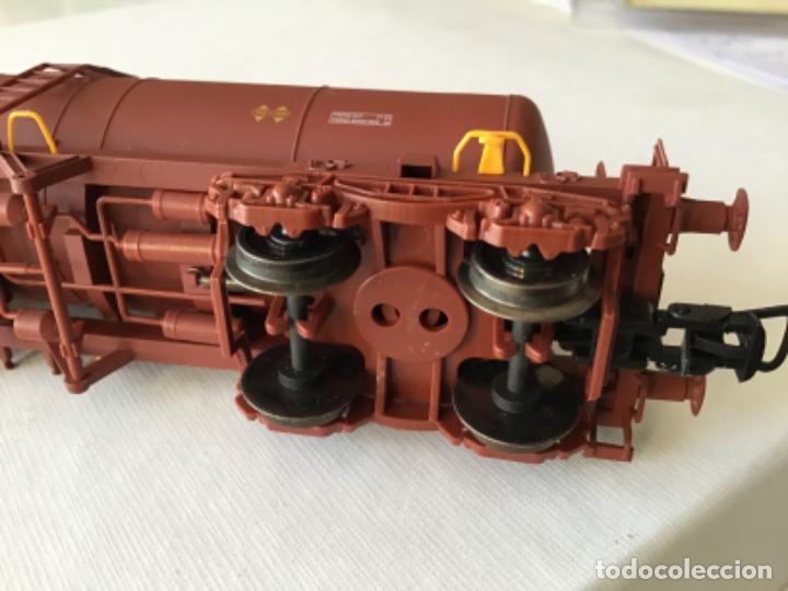 """Trenes Escala: Electrotren H0. Vagón cisterna """"Renfe RR"""" de vitrina - Foto 7 - 210518443"""