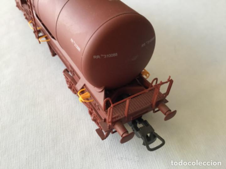 """Trenes Escala: Electrotren H0. Vagón cisterna """"Renfe RR"""" de vitrina - Foto 8 - 210518443"""
