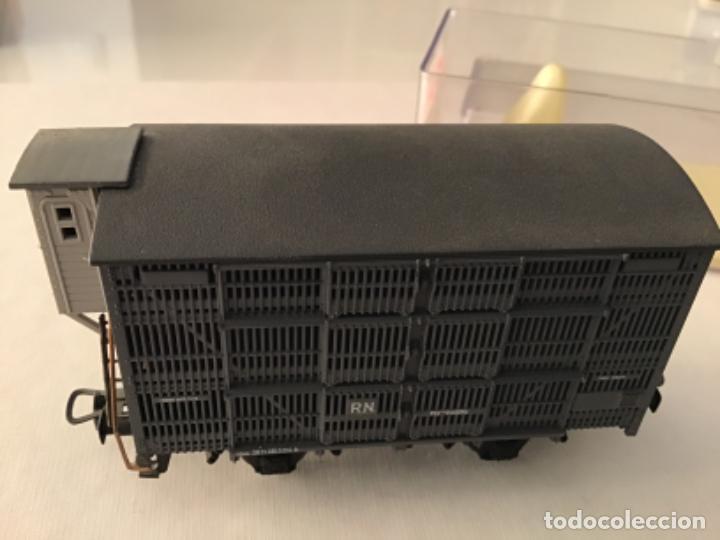 Trenes Escala: H0 Electrotren Vagón jaula de ganado con garita. De vitrina. Único. - Foto 2 - 210678510