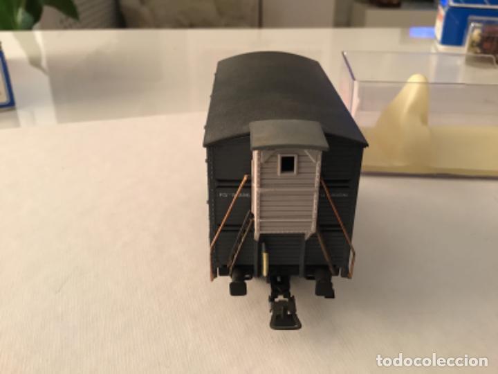 Trenes Escala: H0 Electrotren Vagón jaula de ganado con garita. De vitrina. Único. - Foto 7 - 210678510