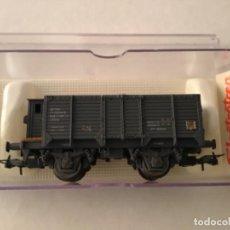 Trenes Escala: ELECTROTREN H0. VAGÓN CARBONERO CON GARITA REF 1962. DE MUSEO.. Lote 210681217