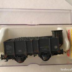 Trenes Escala: ELECTROTREN H0 . VAGÓN CARBONERO CON GARITA ENVEJECIDO POR PROFESIONAL. REF 1962.. Lote 210681945