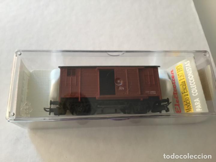 Trenes Escala: Electrotren H0 Vagón mercancías cerrado. Precioso - Foto 2 - 210767224