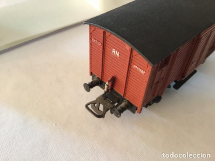 Trenes Escala: Electrotren H0 Vagón mercancías cerrado. Precioso - Foto 4 - 210767224