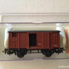 Trenes Escala: ELECTROTREN H0 VAGÓN MERCANCÍAS CERRADO. PRECIOSO. Lote 210767224