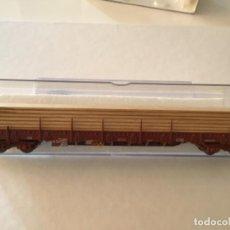 Trenes Escala: ELECTROTREN H0 VAGÓN CUATRO EJES TELERO MADERAS. PRECIOSO.. Lote 210771125