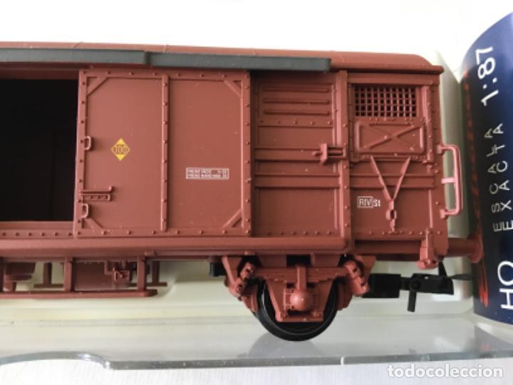 Trenes Escala: Electrotren H0 Vagón mercancías Renfe cerrado. Ref. 1378. De vitrina. - Foto 3 - 210827985