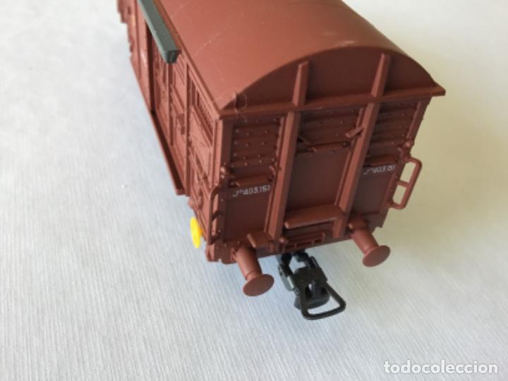 Trenes Escala: Electrotren H0 Vagón mercancías Renfe cerrado. Ref. 1378. De vitrina. - Foto 7 - 210827985