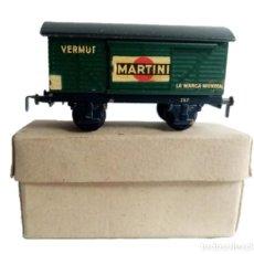 Trenes Escala: VAGÓN MARTINI DE ELECTROTREN AÑOS 50 - EN SU CAJA ORIGINAL. Lote 211487370
