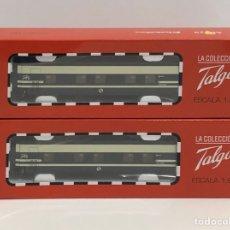 Trenes Escala: ELECTROTREN 2 VAGONES COCHE CAMA TALGO PENDULAR H0. SERIE LIMITADA ALTAYA. Lote 211501076
