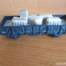Trenes Escala: ELECTROTREN: VAGON MERCANCIAS CON FARDOS. Lote 211574367