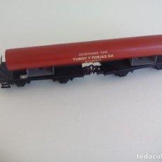 Trenes Escala: VAGÓN DOBLE 1600/2, TUBOS Y FORJAS S.A. BILBAO, METAL ESC. H0, ELECTROTREN.. Lote 211673709