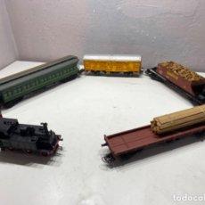 Trenes Escala: ELECTROTREN H0 TREN COMPLETO CON LOCOMOTORA. Lote 211761557