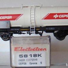 Trenes Escala: VAGÓN CISTERNA DE RENFE CEPSA DE ELECTROTREN REF. 5818. Lote 211877357