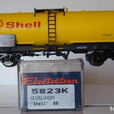Trenes Escala: VAGÓN CISTERNA DE LA DB SHELL DE ELECTROTREN REF. 5823. Lote 211877446