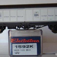 Trenes Escala: VAGÓN CERRADO TIPO HBIS DE LA DB UPS DE ELECTROTREN REF. 1592. Lote 211877883