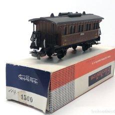 Trenes Escala: ELECTROTREN H0 1500 - VAGÓN MZA DOS EJES COSTA CORTO VIAJEROS CON BALCONCILLOS. Lote 212745115