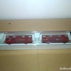 Trenes Escala: PAREJA VAGONES ORE. RENFE. TALLER GRAN INTERVENCIÓN. ELECTROTREN 1819K. Lote 213605195