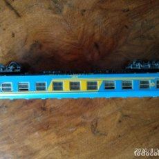 Trenes Escala: VAGON - RENFE - ELECTROTREN ESCALA H0 1-87 MADE IN SPAIN - 26 CENT. LARGO - VER ENGANCHES. Lote 214091890