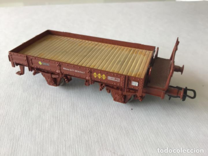 Trenes Escala: H0 Electrotren vagón plataforma Renfe tipo Kkkmo. De vitrina - Foto 9 - 214720550