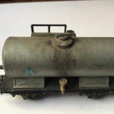 Trenes Escala: HO VAGÓN CISTERNA CS ANTIGUO. TODO METAL. ENVEJECIDO POR PROFESIONAL. Lote 214748192