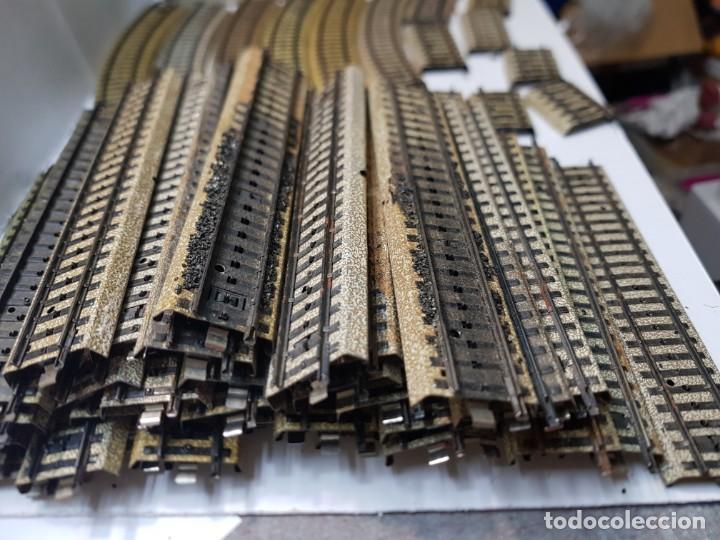 Trenes Escala: Lote de vias Electrotren y Marklin escala H0 lote 59 unidades - Foto 2 - 214764798