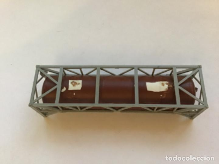 Trenes Escala: H0 bidón cisterna envejecido por profesional de dioramas - Foto 4 - 214861216