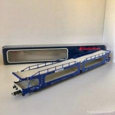 Trenes Escala: ELECTROTREN 6010 VAGÓN PORTAAUTOS TRANSFESA. Lote 214903106
