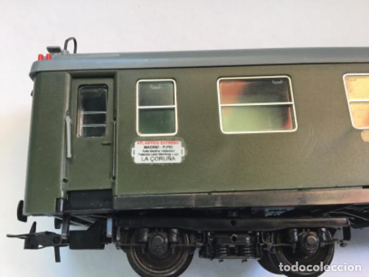 Trenes Escala: Electrotren H0. Vagón primera y cafetería Renfe. Atlántico expreso.Muy buscado. Con luces. - Foto 2 - 214920752