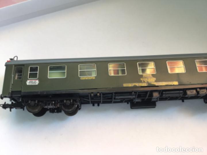 Trenes Escala: Electrotren H0. Vagón primera y cafetería Renfe. Atlántico expreso.Muy buscado. Con luces. - Foto 3 - 214920752