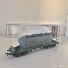 Trenes Escala: ELECTROTREN 5468 K, VAGÓN TOLVA CEMENTO TRANSFESA ENVEJECIDO. Lote 217233317