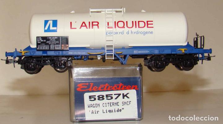 ELECTROTREN VAGÓN CISTERNA DE LA SNCF AIR LIQUIDE REF. 5857 ESCALA H0 (Juguetes - Trenes Escala H0 - Electrotren)