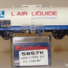 Trenes Escala: ELECTROTREN VAGÓN CISTERNA DE LA SNCF AIR LIQUIDE REF. 5857 ESCALA H0. Lote 255521400
