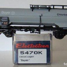 Trenes Escala: ELECTROTREN VAGÓN CISTERNA DE LA DB BAYER REF. 5470 ESCALA H0. Lote 245640355