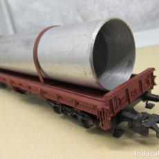Trenes Escala: ELECTROTREN 5125 CARGA TUBO METÁLICO ESCALA H0. Lote 218136275