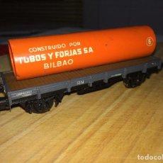 Trenes Escala: PLATAFORMA DE CARGA - ELECTROTREN - MADE IN SPAIN - TUBOS Y FORJAS, S. A. - BILBAO. Lote 218323690