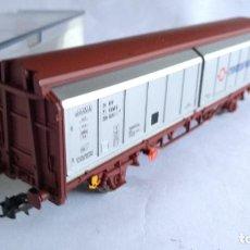Trenes Escala: ELECTROTREN H0 REF 1595K ,VAGÓN CARGA CON COMPUERTAS, EN CAJA. VÁLIDO IBERTREN,ROCO, ETC. Lote 218538392