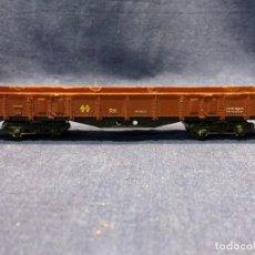 Trenes Escala: VAGON TRANSPORTE MERCANCIAS ELECTROTREN ESCALA H0 3,5X21X3,5CM. Lote 218921596