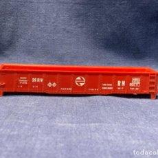 Trenes Escala: CARCASA VAGON MERCANCIAS ROJO RENFE N 5715 ELECTROTREN H0 3X15,5X2,5CMS. Lote 218923435