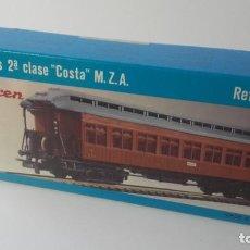 Trenes Escala: COCHE DE VIAJEROS 2ª CLASE COSTA M.Z.A. REF. 500. ELECTROTREN. CAJA SIN ABRIR. KIT MONTAJE. Lote 219007175
