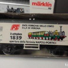 Treni in Scala: VAGON MÄRKLÍN HO. CONMEMORATIVO APERTURA DELLA FERROVIA NAPOLI-PORTICI. 1839. VERONA.. Lote 219561030