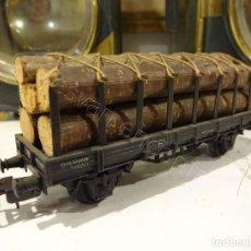 Trains Échelle: ELECTROTREN H0. VAGÓN TRANSPORTE MADERERO. Lote 219590996