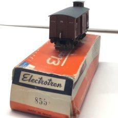 Trains Échelle: ELECTROTREN H0 855 - VAGÓN RN DOS EJES CERRADO CON GARITA Y PUERTAS CORREDERAS. Lote 219635015