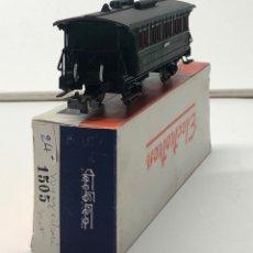 Trenes Escala: ELECTROTREN H0 1505 - VAGÓN PASAJEROS MZA CON LUZ CONTINUA. Lote 219648297
