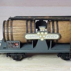 Trenes Escala: VAGÓN CUBAS TONELES VINO OBRIST VEVEY REF. 815, ELECTROTREN SPAIN H0 1/87, ORIGINAL AÑOS 90.. Lote 220618387