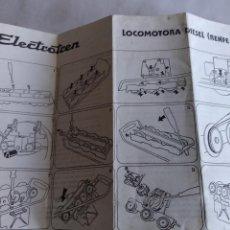 Trenes Escala: ELECTROTREN INSTRUCCIONES DE LA LOCOMOTORA RENFE 333. Lote 221458338